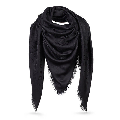 Louis-Vuitton-Monogram-Shawl-M71329-Black12470
